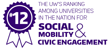 No. 12 - The UW's ranking among universities in the nation for social mobility and civic engagement.